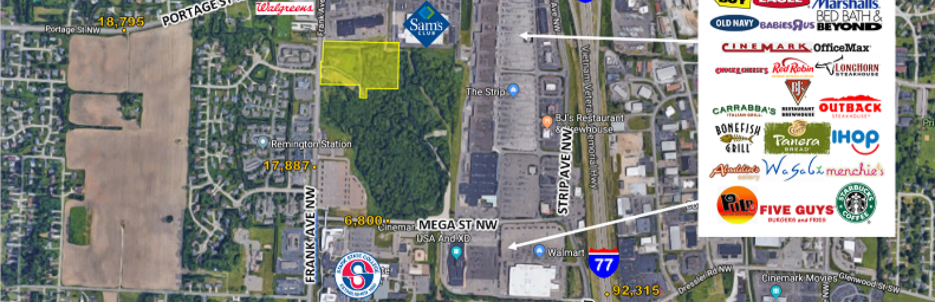 8.15 ACRES OF COMMERCIAL LAND FOR SALE