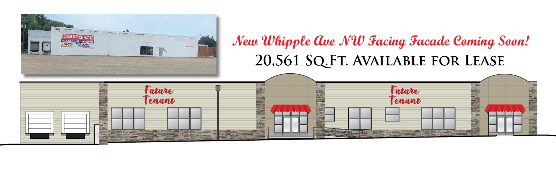20,561 SQ.FT. WAREHOUSE & RETAIL FOR LEASE - Opportunity Zone